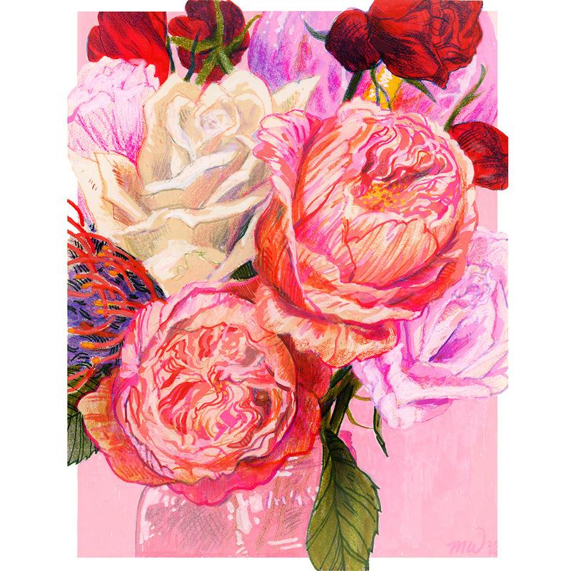 megan wood illustration - Bouquet