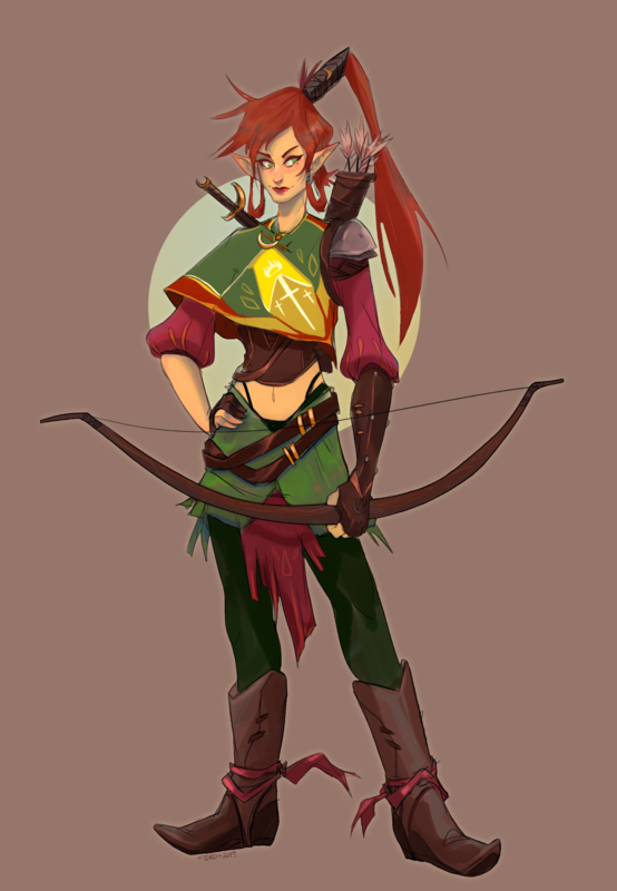 KatHayahshia - Dungeons & Dragons Character Design (2018)