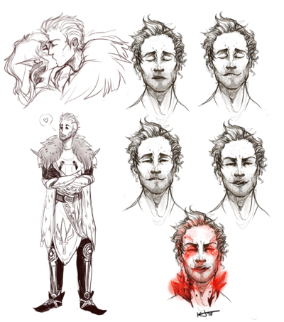 Katie Jones - Sketches for Dragon Age