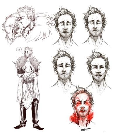 KatHayahshia - Sketches for Dragon Age