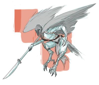 KatHayahshia - Bird character commission