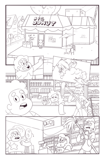 KatHayahshia - Steven Universe Panels for The Big Donut Special 2016