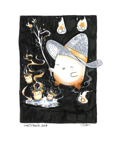 KatHayahshia - Mallow Wizard Conjures (Inktober 2018) Traditional Media