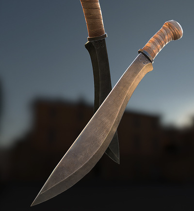 Jose Olivas- 3D art - Machete