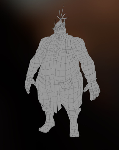 Jose Olivas- 3D art - Ogre wire