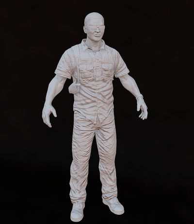 Jose Olivas- 3D art - Baked Normals