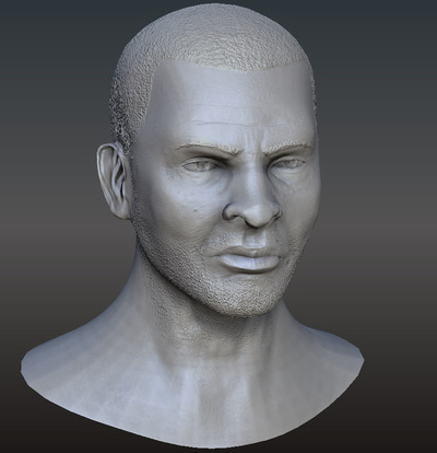 Jose Olivas- 3D art - High poly head
