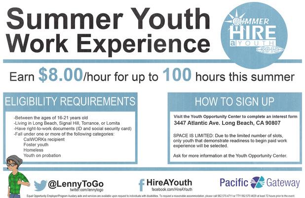 Jaime Arias Portfolio - Summer Youth Work Experience Flyer