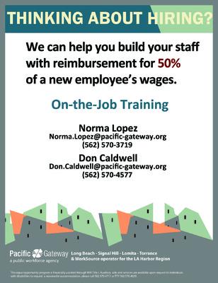 Jaime Arias Portfolio - On-the-Job Training Flyer