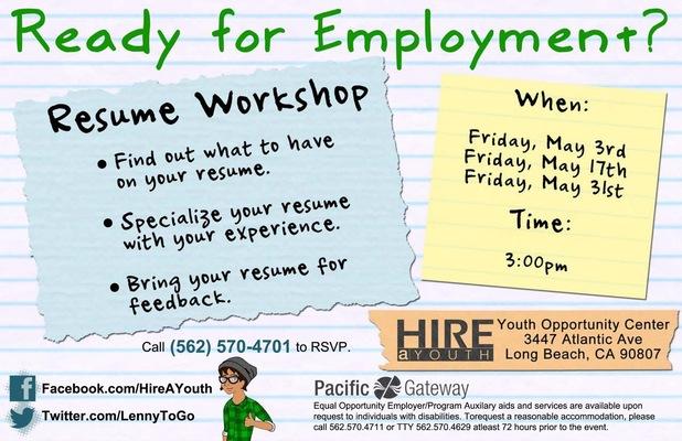 Jaime Arias Portfolio - Resume Workshop Flyer