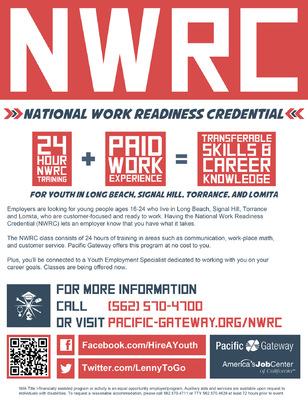 Jaime Arias Portfolio - National Work Readiness Credential Flyer