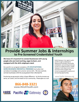 Jaime Arias Portfolio - Hire-a-Youth Employer Flyer