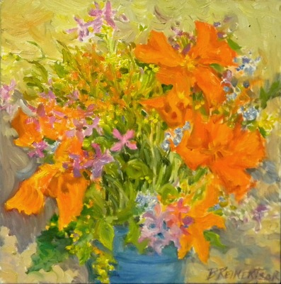 Barbara Reinertson - An Explosion of Poppies 12 x 12