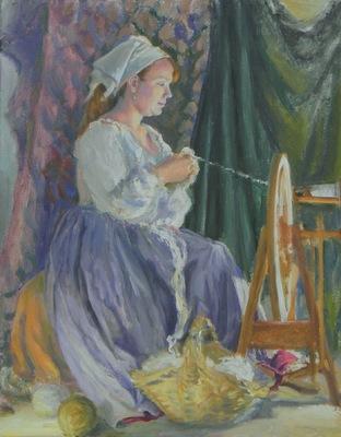 Barbara Reinertson - Spinning 16 x 20