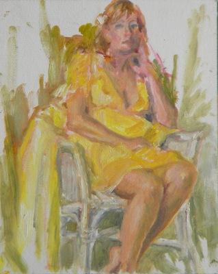 Barbara Reinertson - Posing in Yellow 8 x 10