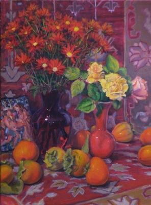 Barbara Reinertson - A Still Life in Reds 18 x 24