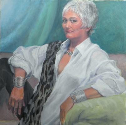 Barbara Reinertson - Portrait of Suzanne 24 x 24