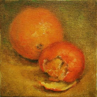 Barbara Reinertson - Tangerines 5 x 5