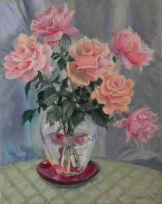 Barbara Reinertson - Pink and Gray 16 x 20