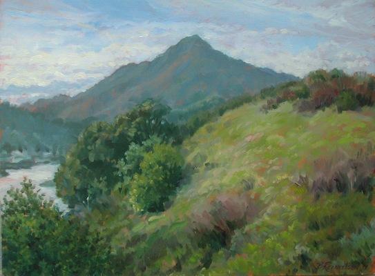 Barbara Reinertson - Mt. Tam in Early Spring 24 x 18 hhaa