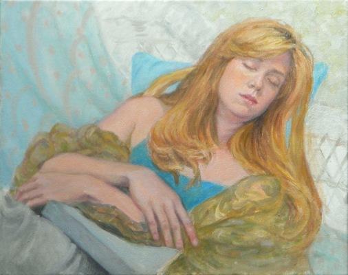 Barbara Reinertson - The model Asleep 20x16