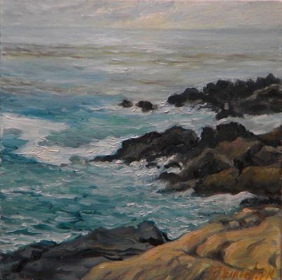 Barbara Reinertson - Point Lobos Surf 12 x 12