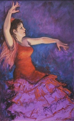 Barbara Reinertson - Flamenco Fire 30 x 48