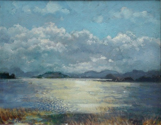Barbara Reinertson - Looking West in Late Light 14 x 11