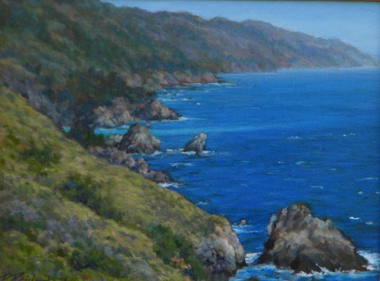 Barbara Reinertson - Big Sur Blue 12 x 9