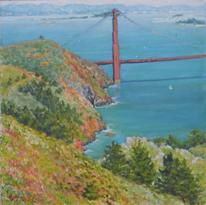 Barbara Reinertson - A View from the Headlands 20 x 20