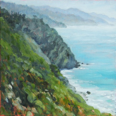 Barbara Reinertson - Big Sur Mist 12 x 12