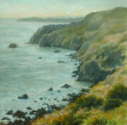 Barbara Reinertson - Above Muir Beach 16 x 16