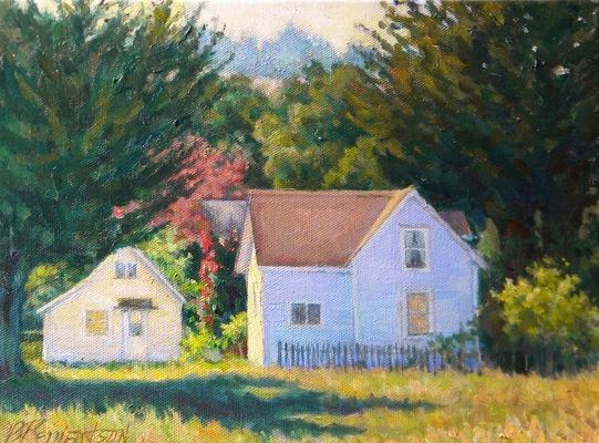 Barbara Reinertson - A Corner of Nicasio 12 x 9