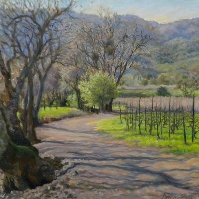 Barbara Reinertson - The Vineyard In Winter 20 x 20