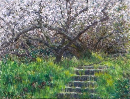 Barbara Reinertson - Stairs To Spring 12 x 9