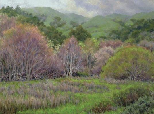 Barbara Reinertson - Misty Spring Day 24 x 18