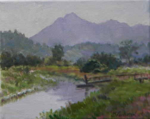 Barbara Reinertson - Mt. Tam In The Mist 10 x 8