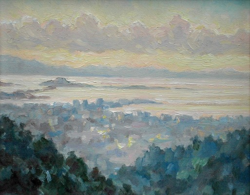 Barbara Reinertson - View From Grizzly Peak 10 x 8
