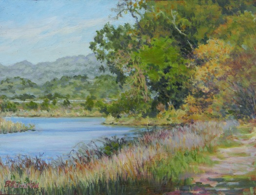 Barbara Reinertson - A Bel Marin Morning 12 x 9