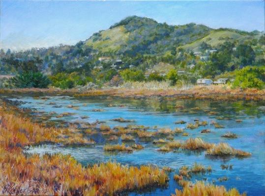 Barbara Reinertson - A Wet Blue Spring 24 x 18