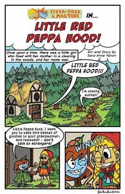 Sara Varon Portfolio - Page from Peppa-Jack and Martini of Fancy Free Comics