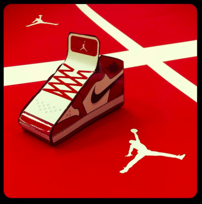 Moshburn - Screenprint job for Nike Jordan Christmas ornament