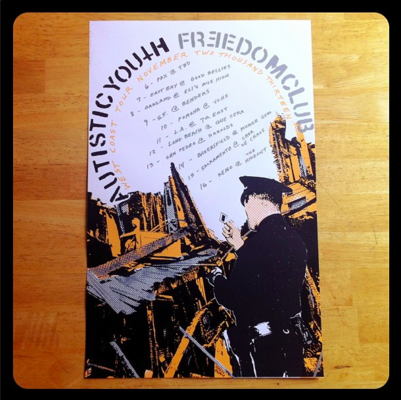 Moshburn - Freedom Club / Autistic Youth tour poster