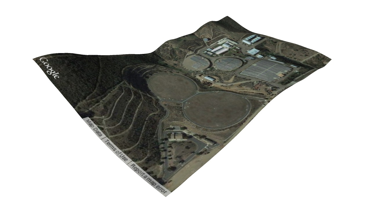 Kylie King - Twin Oaks Valley Water Treatment Plant, 3D terrain model
