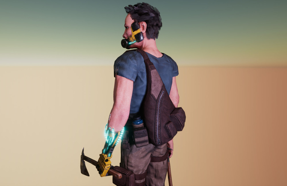 Joels Portfolio - Post Apocalyptic Soldier Back