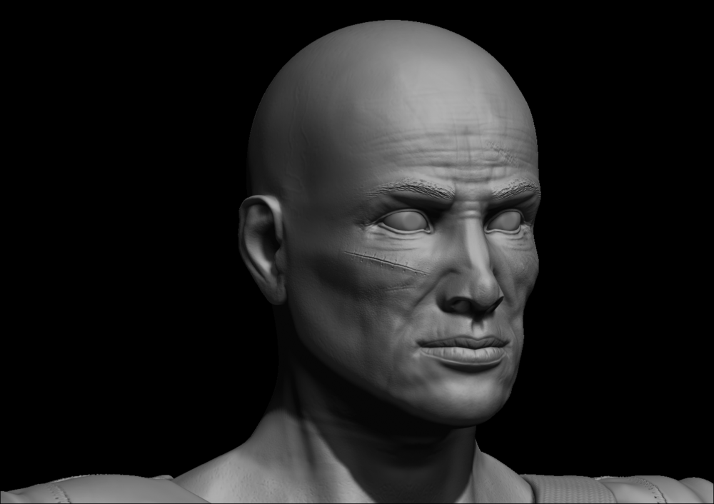 Joels Portfolio - Post Apocalyptic Soldier High Res Head