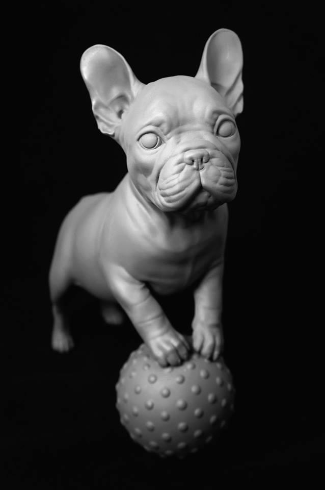 www.mieke-maes.com - Pup - lifesize 3D print