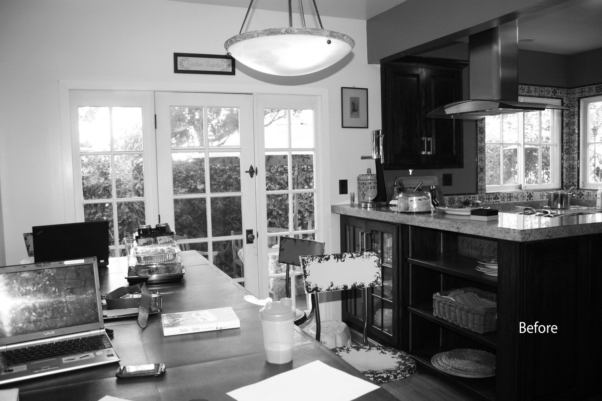 MKY Design - The kitchen before was functional but ordinary.