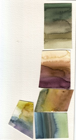 deneen mcarthur - Colour swatches created for the dying of the Fairies.