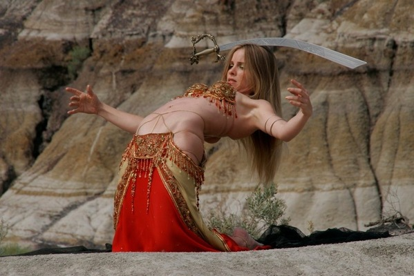 deneen mcarthur - Sword Double Veil Dance Video, Choreography by Christy Greene; AMPIA Film Costume Design Award Nomination The challenge here was to create a garment that was stable and moved well with the body, while providing an almost impossible visual.